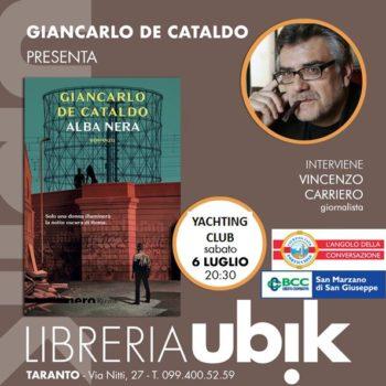 De Cataldo a Taranto il 6 luglio